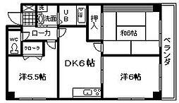 パークアベニュー中井[6号室]の間取り