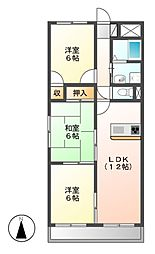 LONE STAR茶屋ヶ坂[2階]の間取り