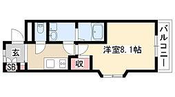 愛知県名古屋市天白区島田5丁目の賃貸マンションの間取り