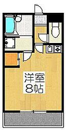 京都府京都市北区紫野東舟岡町の賃貸アパートの間取り