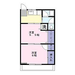埼玉県春日部市中央6丁目の賃貸マンションの間取り