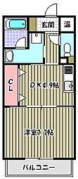プラシード[1階]の間取り