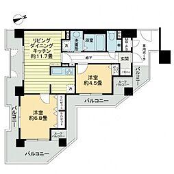 ライオンズマンション天王寺シティ[13階]の間取り