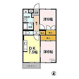 エバーヒルマンション[3階]の間取り