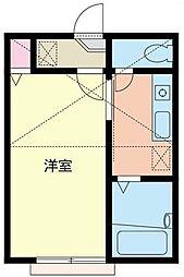 新杉田壱番館[202号室]の間取り