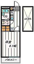 埼玉県さいたま市桜区上大久保の賃貸アパートの間取り