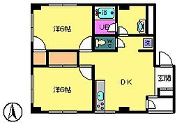 エトワールリコー[2階]の間取り