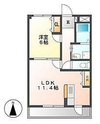 サンシャイン花の木[2階]の間取り