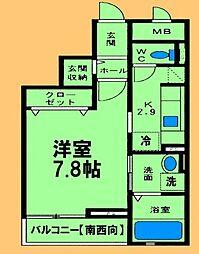 神奈川県相模原市緑区大山町の賃貸マンションの間取り