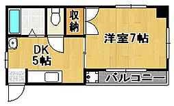コスミック片江[305号室]の間取り