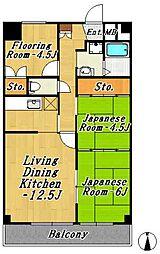 フジマンション第1[1階]の間取り