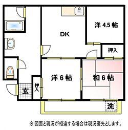 第一山崎ハイツ[2階]の間取り
