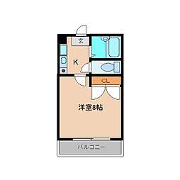 奈良県大和高田市東中の賃貸マンションの間取り