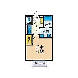 ポートパルサム[2階]の間取り