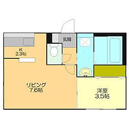仮)江別市東野幌本町5-26MS[306号室]の間取り