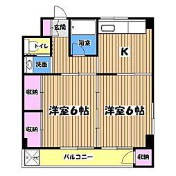 プライムコート富士森I[3階]の間取り