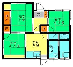 [一戸建] 福岡県大野城市筒井3丁目 の賃貸【福岡県/大野城市】の間取り