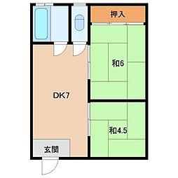 出島マンション[2階]の間取り