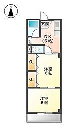 紅屋ビル[2階]の間取り