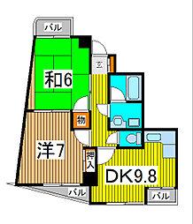 新田第9ビル[7階]の間取り