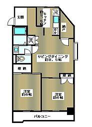 第2高桐マンション[4階]の間取り