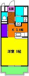 静岡県浜松市中区高林1丁目の賃貸マンションの間取り