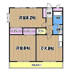 東京都八王子市久保山町1丁目の賃貸マンションの間取り