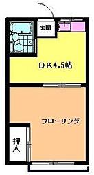 コーポ石部[202号室]の間取り