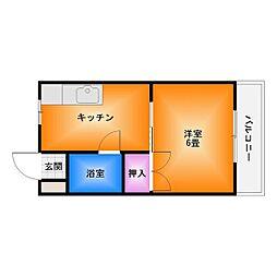 ヒューマンスペースIII[4階]の間取り