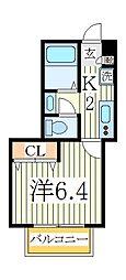 セナリオコート柏V[1階]の間取り