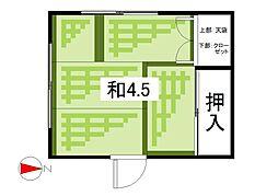 鈴木荘[101号室]の間取り