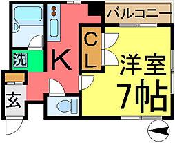 TKグレイスビル2[102号室]の間取り