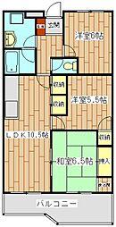 アンビエンテ桜ヶ丘[2階]の間取り