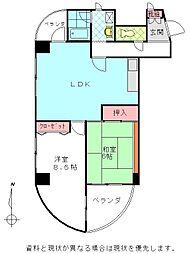 別府ツインタワーB棟[0201号室]の間取り