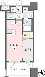 GRANFORE千早マークスクエア ウエストウイング 9階1LDKの間取り