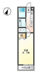 シャトウ清栄[2階]の間取り