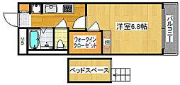 大阪府大阪市西成区天下茶屋東2丁目の賃貸マンションの間取り