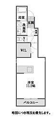 徳島県徳島市八万町法花の賃貸アパートの間取り