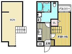 UNOS garden[2階]の間取り