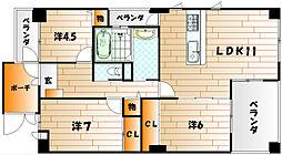 いわきマンション井堀[7階]の間取り