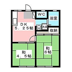 大塚南ハイツ[2階]の間取り