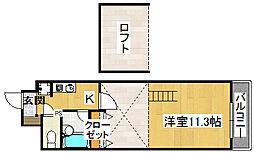 メゾンジュネス[4階]の間取り