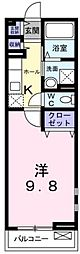 広島県福山市南手城町2丁目の賃貸アパートの間取り