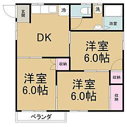 愛知県名古屋市守山区元郷1丁目の賃貸アパートの間取り