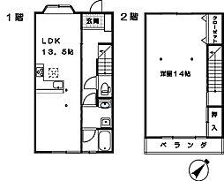 [タウンハウス] 埼玉県さいたま市大宮区三橋3丁目 の賃貸【埼玉県 / さいたま市大宮区】の間取り