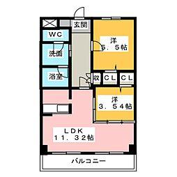 コスモ(吉津)[3階]の間取り