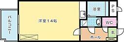 オリエンタル三萩野公園[202号室]の間取り