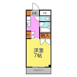 兵庫県姫路市西中島の賃貸マンションの間取り