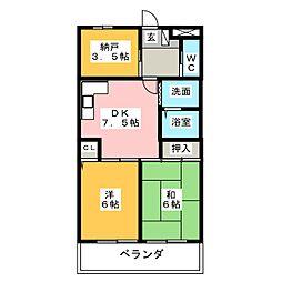 第3宮崎ビル[3階]の間取り