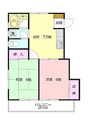ハウス荏田C[2階]の外観